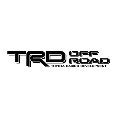 Toyota TRD Truck Off Road 4x4 Toyota Racing Tacoma Decal Vinyl Sticker (BLACK 070): Automotive