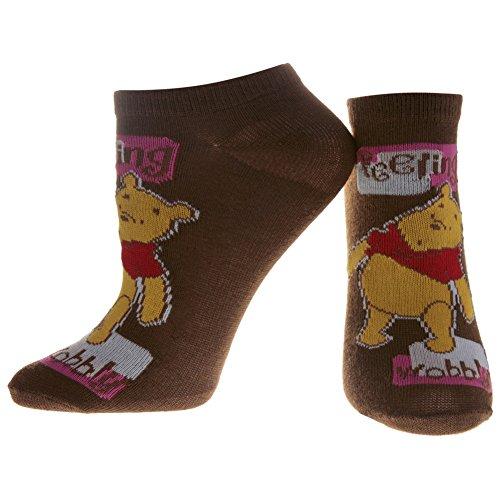 Winnie The Pooh - Feeling Wobbly Brown Socks - 6-8.5