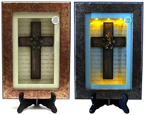 Box Lighted Shadow - RDJLife Collectibles Spiritual Harvest Vine Cross Lighted Shadow Box