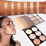 DZT1968 1PC/6 Colors women 33g Professional New Makeup Face Powder Bronzer Highlighter Powder Palette (A)