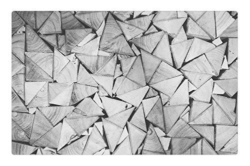 Tree26 Indoor Floor Rug/Mat (23.6 x 15.7 Inch) - Stack Wood Pile Triangular Pattern Stacked Lumber