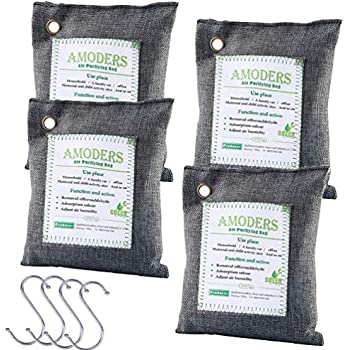 Amazon Com 4 Piece Bamboo Charcoal Air Purifying Bags