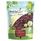 Organic Dark Red Kidney Beans, 3 Pounds - Non-GMO, Kosher, Raw, Sproutable, Vegan