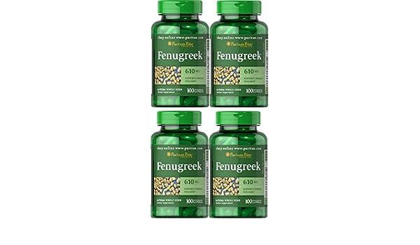 4 FENOGRECO 610 MGR 100 CAP (DIABETES Y COLESTEROL)  FENUGREEK: Amazon.es: Salud y cuidado personal