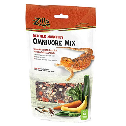 Zilla Reptile Food Munchies Omnivore Mix, 4 Ounces ()