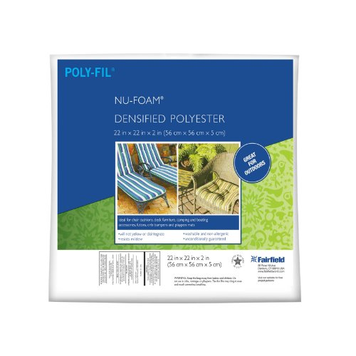 Fairfield Poly-Fil Nu-Foam 22in x 22in x (Polyester Foam)