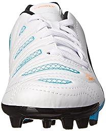 PUMA Evopower 4.2 Firm Ground JR Soccer Shoe (Little Kid/Big Kid) , White/Black/Hawaiian Ocean, 6.5 M US Big Kid