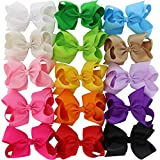 Chiffon 15 Colors 6in Large Big Grosgrain Ribbon Hair Bows WITH Alligator Clips Boutique Bow For Girls Toddlers Teens Babies