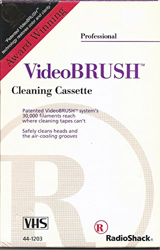 Video brush VHS Professional Cleaning Cassette System By Radio shack Video Brush