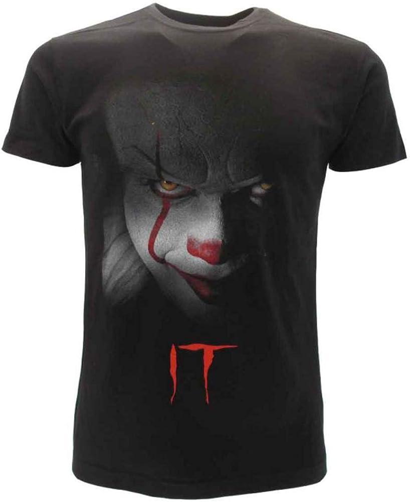 It T-Shirt Originale Clown Film Horror Stephen King Maglia Prodotto Ufficiale