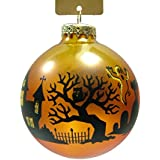 New Glass Orange Halloween Nightscape Glass Bulb Autumn Trick or Treat Haunted House Ghost Ghoul Vampire Zombie Witch Christmas Tree Ornament
