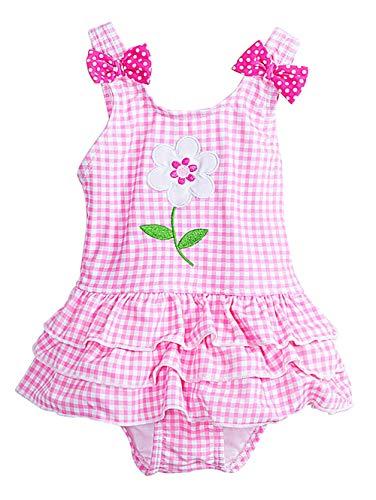 KONFA Toddler Baby Girls Christmas Three Print Dresses,for 0-4 Years Old,Little Princess Flare Sleeve Skirt Clothing Set