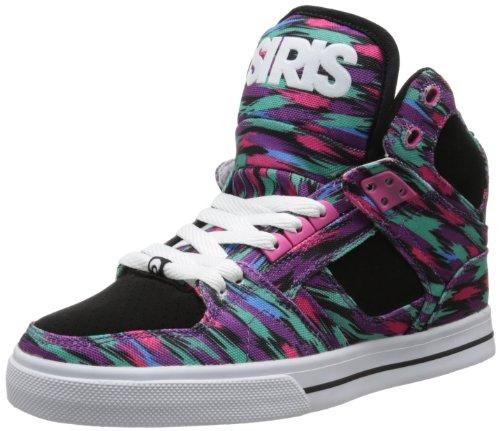 Osiris Women's NYC83 VLC Skate Shoe,Black/Pink,5.5 M US