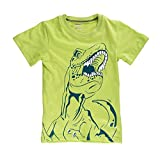 Little Boys Dinosaur Tee Summer Tops Toddler Green Tyrannosaurus Casual T-Shirts