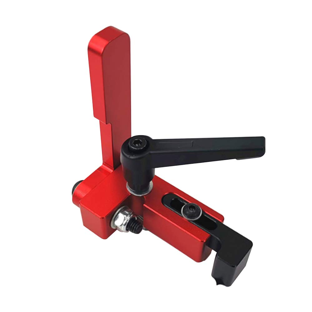 Miter Track Stop Durable T-Track Accurate for Sliding Chute Length Limit Woodworking Tool Woodworker Locator,Aluminum Alloy Easy Operate