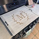 Monogram Personalized Oven Cover Stove Top Noodle Board Farmhouse Home Decor 24705-TRAY-052