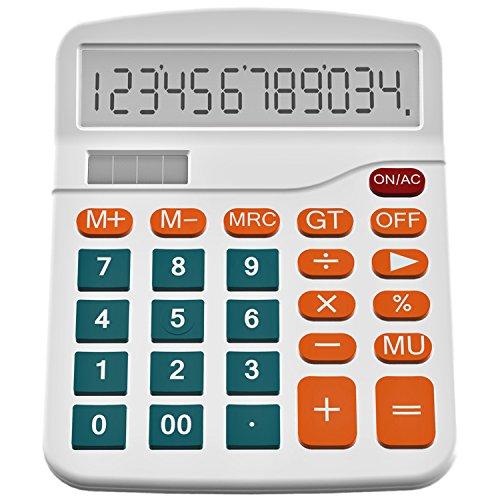 Calculator, Helect Standard Function Desktop Calculator (White) - H1001D