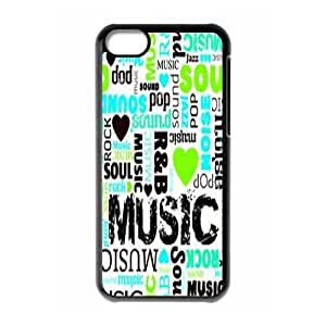Music Personalized Case for Iphone 5C, Customized Music Case