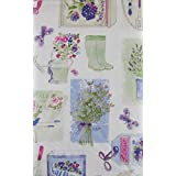 "Spring Garden Collection Vinyl Flannel Back Tablecloth (52"" x 70"" Oblong)"