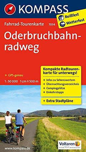 Oderbruchbahnradweg: Fahrrad-Tourenkarte. GPS-genau. 1:50000. (KOMPASS-Fahrrad-Tourenkarten, Band 7034)