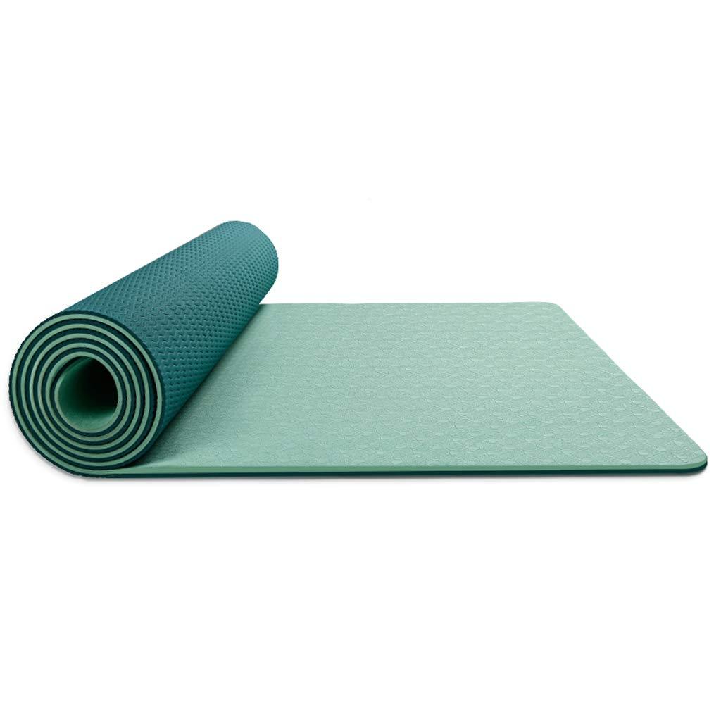 Vert ZHAO YING Tapis De Yoga TPE - épaississement - élargissement - Allongement - Débutant - sans Parfum - Antidérapant - Tapis De Yoga 8mm