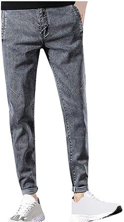 Pantalones De Moda Para Hombre Casual De Tela Vaquera De Color Liso Pantalones Deportivos Largos Para Hombre Slim Jeans Casuales Pantalones Elasticos Loose Denim De Color Liso Hombre Gris 30 Amazon Es Deportes