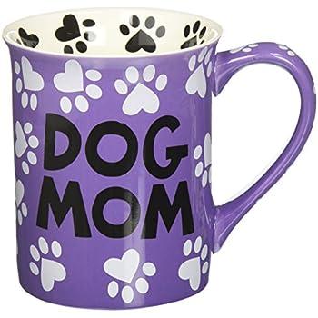 "Our Name is Mud ""Dog Mom"" Stoneware Mug, 16 oz."