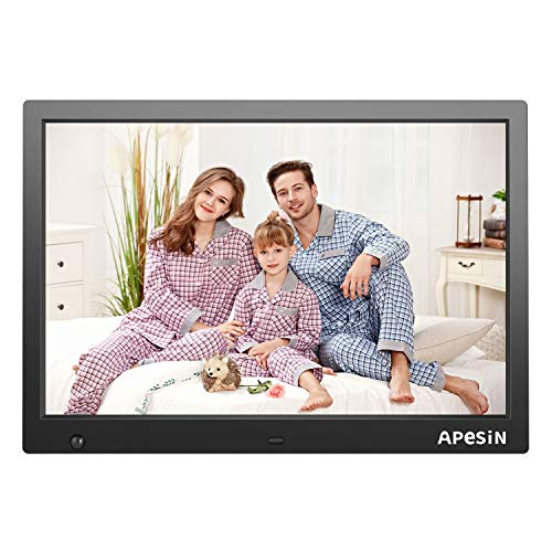 Digital Picture Frame, APESIN 14.1 Inch HD Screen with Motion Sensor(Black) ()