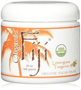 Organic Fiji Sugar Polish, Lemongrass Tangerine, 20-Ounces