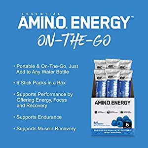 OPTIMUM NUTRITION Essential Amino Energy, Sweet Mint Tea, Keto Friendly BCAAs, Preworkout and Essential Amino Acids with Green Tea and Green Coffee Extract, 30 Servings