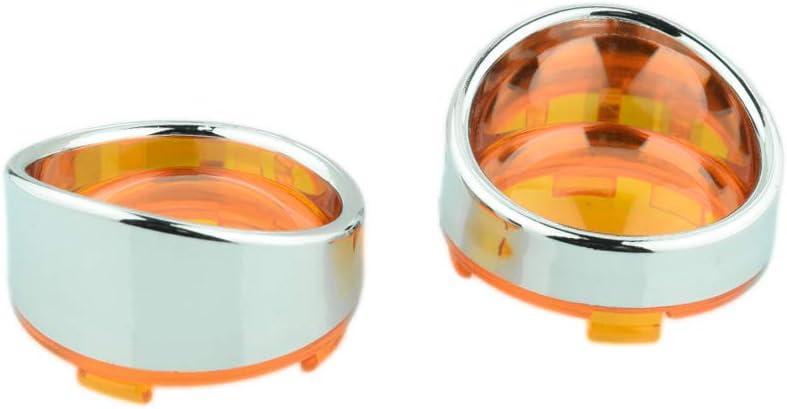 Matte Black Red Lens Visor-Style Turn Signal Bezels Cover for Harley Davidson Dyna Springer Softail Sportster