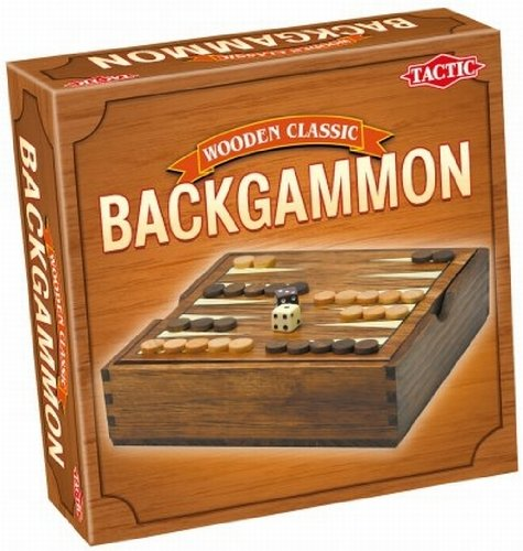 Wooden Classic Backgammon (Versione Inglese) Gioco da tavolo Tactic Games 14026