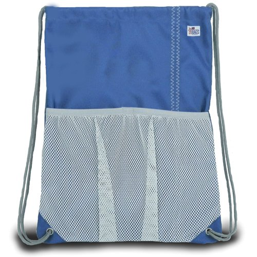 Sailor Bags Drawstring Bag, One Size, Blue/Grey For Sale