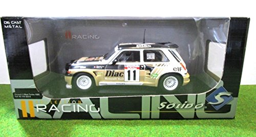 Générique Set of 4 Cars Renault 5 Maxi Turbo Rally 1986 1/18 Solido: Amazon.es: Juguetes y juegos