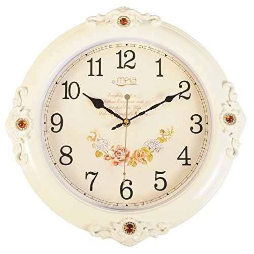 FortuneVin Wall Clock Silent movement Wall Clock Home Office Decor for Living Room Bedroom and Kitchen Clock Wall 16 In Silent, Wall Table Creative Quartz16 India40.5Cm Classic White