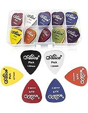 Gresunny 50st plectrums gitaar plectrum kleurrijke guitar pick met opbergkoffer voor akoestische gitaar bas ukelele 0,58/0,71/0,81/0,96/1,20/1,50 (mm)