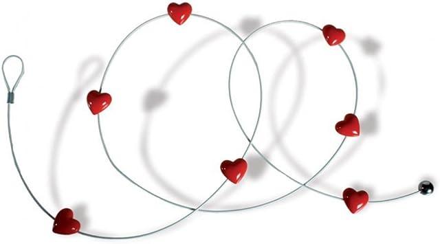 150 cm lang Fotoseil Herz Magnetische Fotoleine 8 Magneten