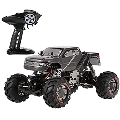 Goolsky HBX 2098B 1/24 2.4GHz 4WD 4WS Devastator Rock Crawler RTR with Double Servo Off-Road RC Car: Toys & Games