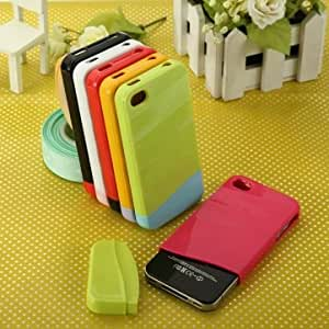 Premium Freedom of Assembly Design Snap-on Case For iPhone 4 --- Color:yellow-light purple