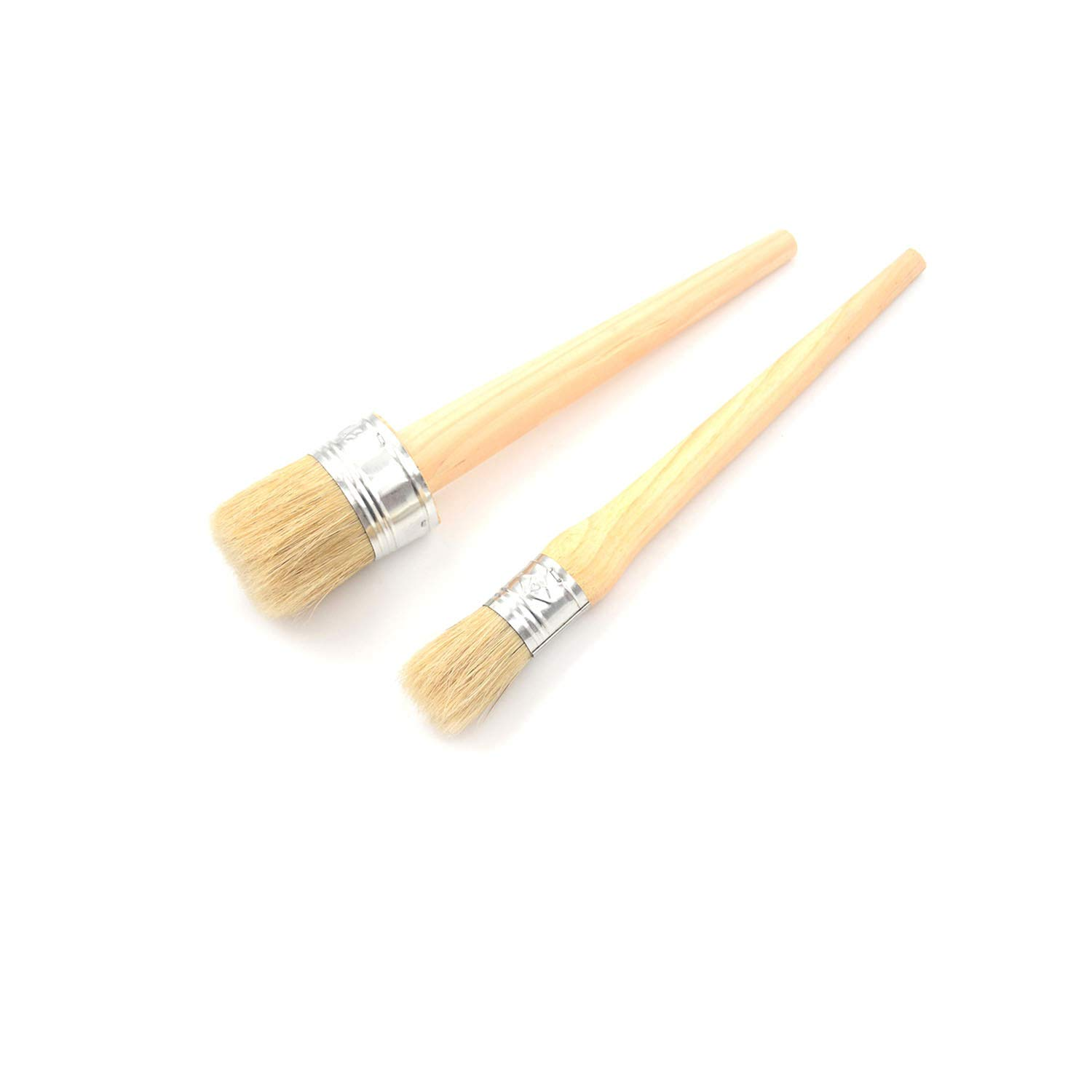 1 PC 185mm Long Round Bristle Chalk 25mm Wooden Handle Round Bristle Chalk Oil Paint Painting Wax Brushes by O-lovey