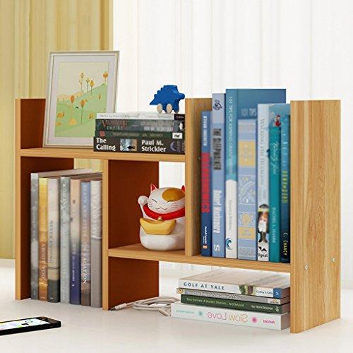 Bookshelf Office Desktop Storage Rack Simple Small-scale Desk Finishing Frame (Color : Maple leaves)