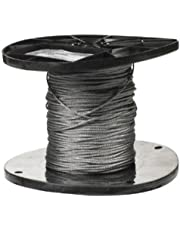 CAMPBELL Galvanized Steel Wire Rope on Reel, 7x7 Strand Core, 1/16-Inch Bare OD, 500-Feet Length, 96-Pound Breaking Strength - 7000227
