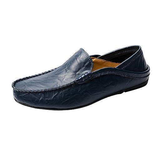 Yudesun Zapatos Mocasines Hombre - Cordones Conducción de Cuero Smart Casual Slip on: Amazon.es: Zapatos y complementos