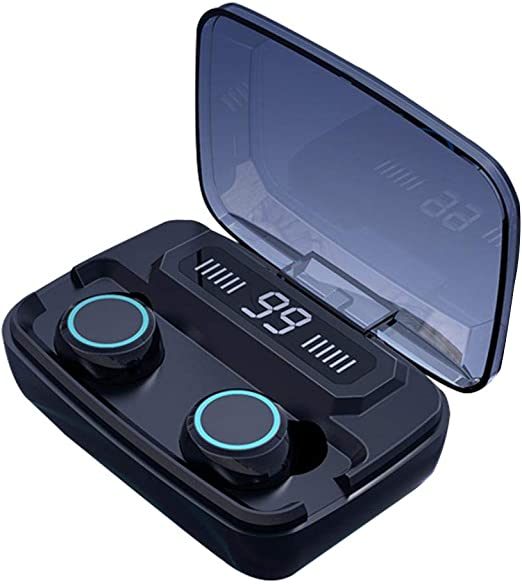 Amazon Com Bluetooth Headphones Wireless Bluetooth Headset Mini In Ear Earphones Noise Cancelling Earbuds Ipx7 Waterproof Sports Wireless Earbuds Built In Mic Built In Charger Box With Led Digital Display Touch Home Kitchen
