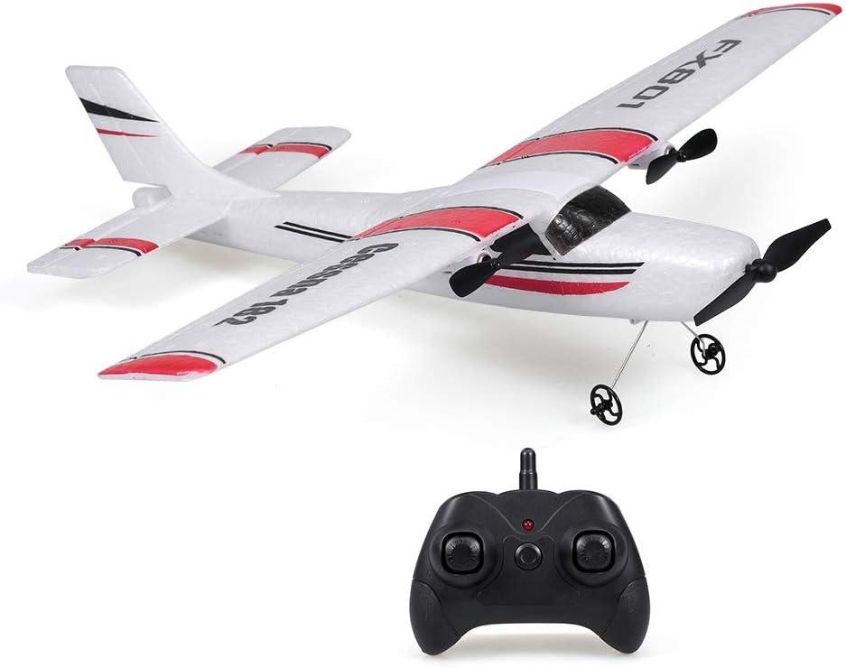 Goolsky FX801 Avión RC Cessna 182 2.4GHz 2CH RC Avión Aeronave Vuelo al Aire Libre Juguetes para Niños