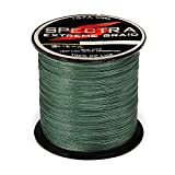 Isafish Braided Fishing Line 500M/547yards 20LB-80LB Test 4 Stands Super Strong PE Fishing Line 0.23mm Diameter Dark Green (Dark Green, 547 Yards 80LB-New)