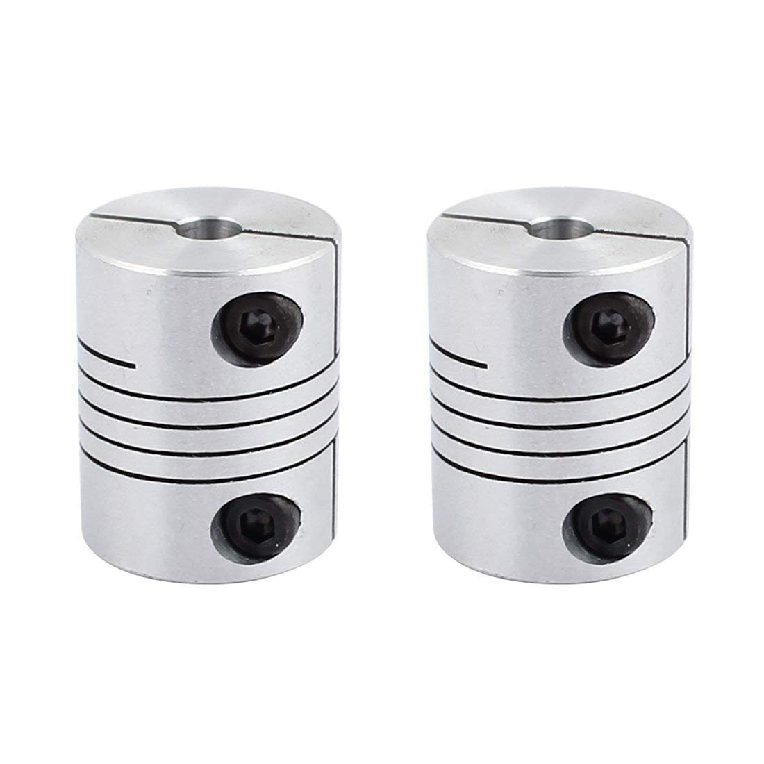 DIY Encoder Sydien 2pcs 5mm to 8mm Joint Helical Beam Coupler Coupling Aluminum Alloy Flexible Coupling Connector for 3D Printer CNC Machine