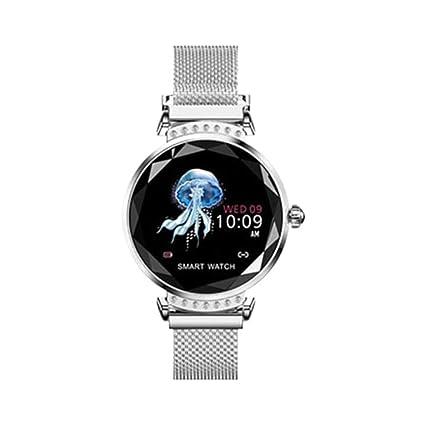 Amazon.com: Smartwatch H2 Smart Watch Women 3D Diamond Glass ...