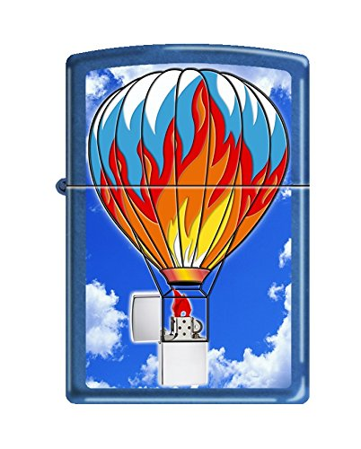 Zippo Custom Design Cigarette Lighter on a Colorful Hot Air Balloon Windproof Collectible - Cool Cigar Lighter Case Made in USA Limited Edition & Rare