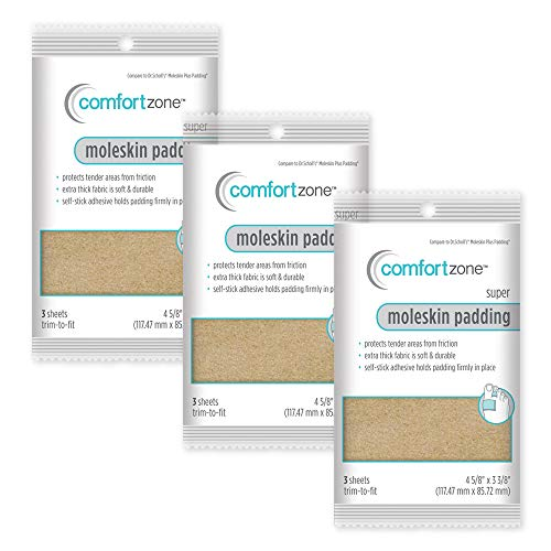 Comfort Zone Super Moleskin (Pack of 3)